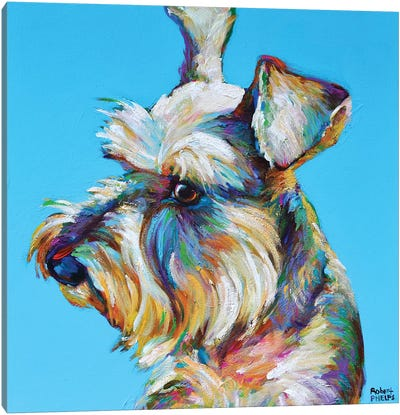 Dylan the Schnauzer Canvas Art Print