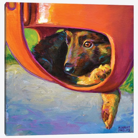German Shepherd Puppy Canvas Print #RPH97} by Robert Phelps Canvas Art
