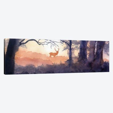 Morning Forest Deer Canvas Print #RPK108} by Rachel Parker Canvas Art Print