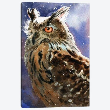 Owl Eyes Canvas Print #RPK109} by Rachel Parker Canvas Art Print