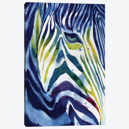 Zebra Colors Canvas Print #RPK115} by Rachel Parker Canvas Art Print