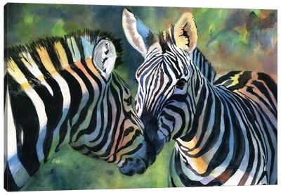 Zebra Love Canvas Art Print