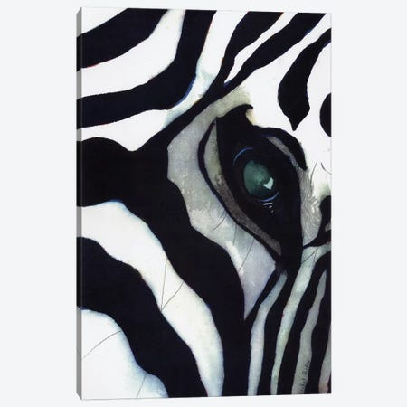 Zebra Thoughts Canvas Print #RPK119} by Rachel Parker Canvas Artwork