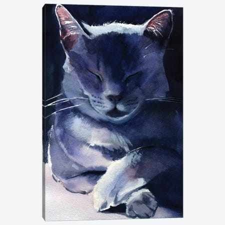 Russian Blue 3-Piece Canvas #RPK15} by Rachel Parker Art Print