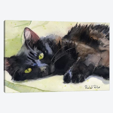 Sadie On Green Canvas Print #RPK17} by Rachel Parker Canvas Print