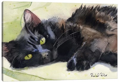Sadie On Green Canvas Art Print