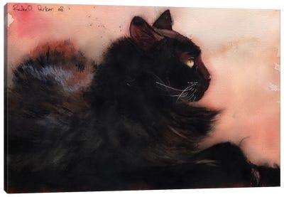 Sadie Sunbathing Canvas Art Print