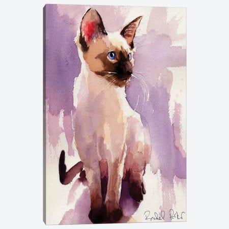 Siamese Sit With Lavender Canvas Print #RPK21} by Rachel Parker Art Print