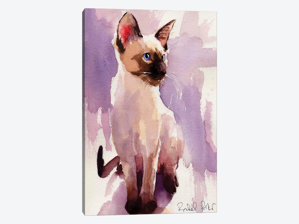 Siamese Sit With Lavender by Rachel Parker 1-piece Canvas Print