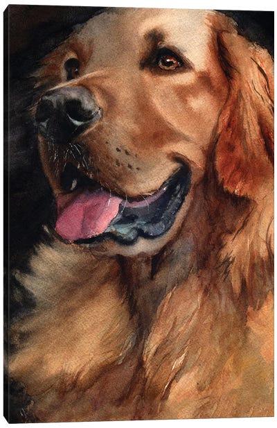 Golden Retriever Joy Canvas Art Print