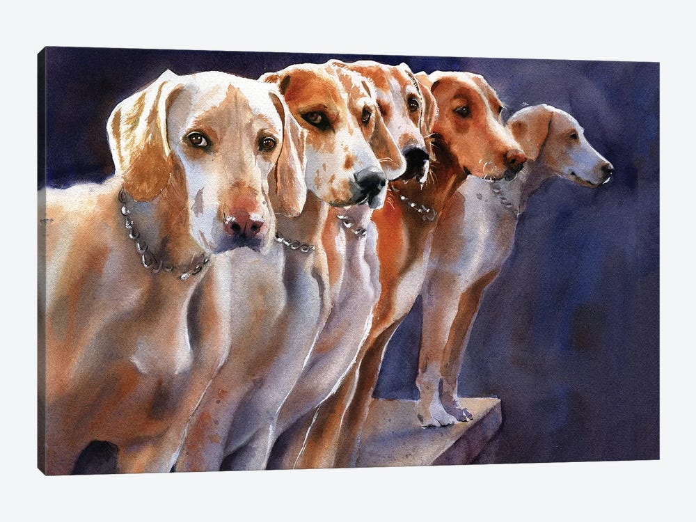 Penn Marydel Hounds by Rachel Parker 1-piece Canvas Art