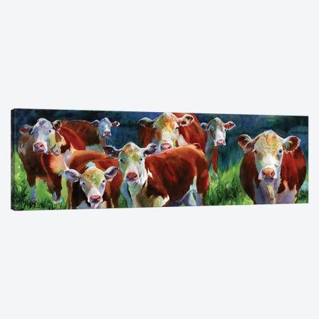 Curious Cows Canvas Print #RPK53} by Rachel Parker Canvas Wall Art
