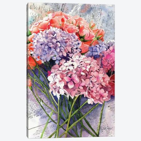 Sunday Hydrangeas Canvas Print #RPK63} by Rachel Parker Art Print