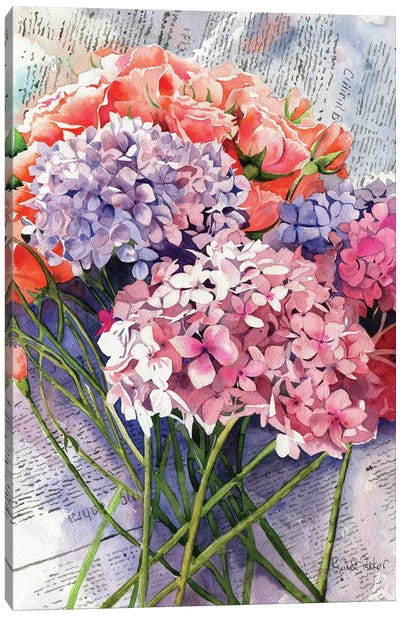 Sunday Hydrangeas Canvas Art Print