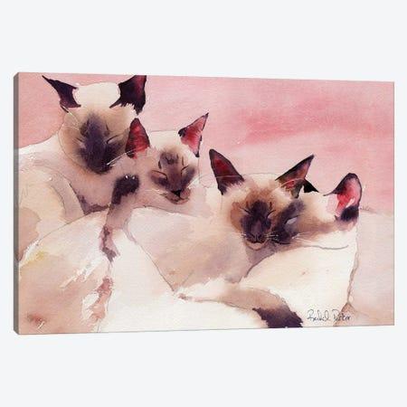 Family Of Four Canvas Print #RPK6} by Rachel Parker Art Print
