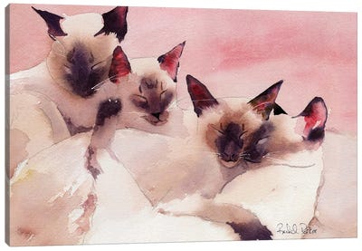 Family Of Four Canvas Art Print