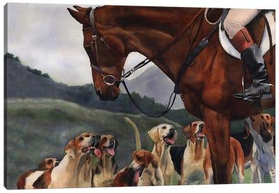 Hunt Horse Hounds Canvas Art Print
