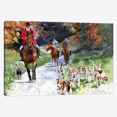 Tally Ho Canvas Print #RPK79} by Rachel Parker Canvas Art