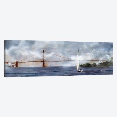 Landscape Golden Gate Foggy Sail Canvas Print #RPK83} by Rachel Parker Canvas Print