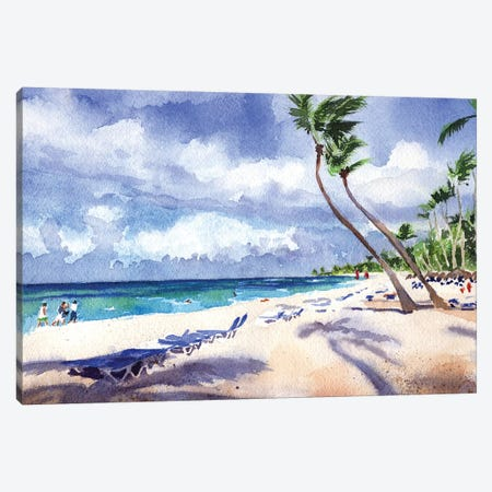 Caribbean Cool Canvas Print #RPK84} by Rachel Parker Canvas Art