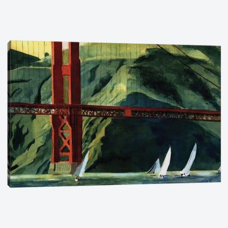 Golden Gate Regatta Canvas Print #RPK86} by Rachel Parker Canvas Artwork