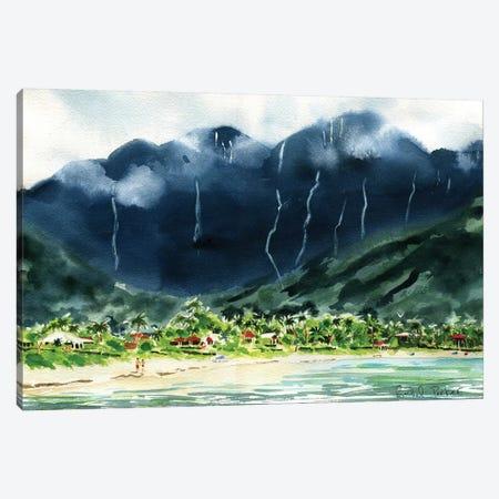 Hanalei Bay Canvas Print #RPK87} by Rachel Parker Canvas Artwork