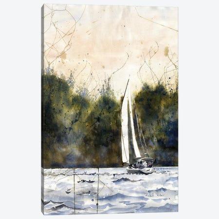 Sailing Daze Off Canvas Print #RPK88} by Rachel Parker Art Print