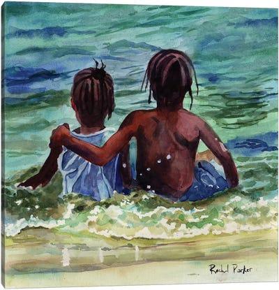Caribbean Kids Canvas Art Print