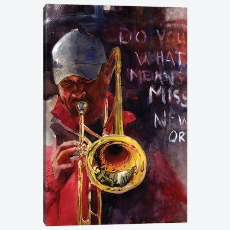 New Orleans Ephemera Canvas Print #RPK96} by Rachel Parker Art Print