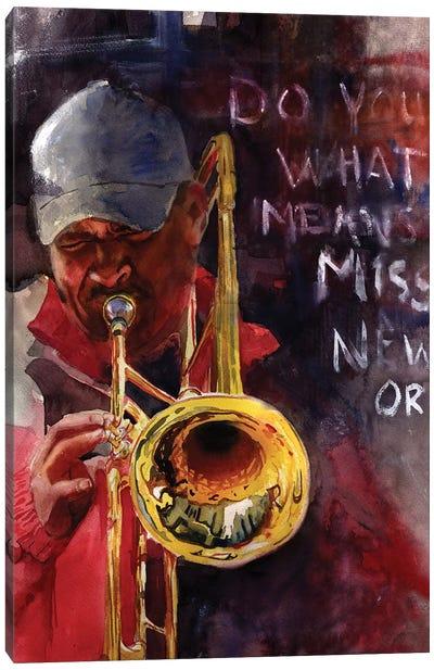 New Orleans Ephemera Canvas Art Print
