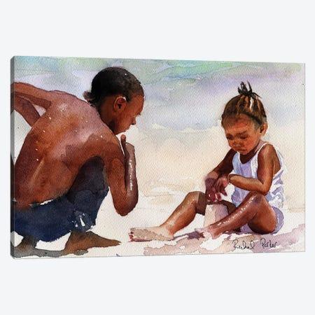 Sandcastle Canvas Print #RPK98} by Rachel Parker Canvas Wall Art
