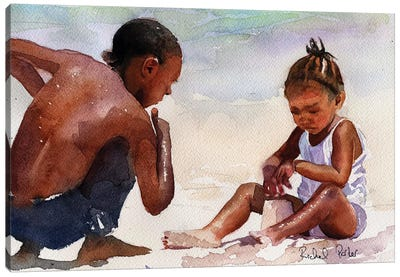 Sandcastle Canvas Art Print