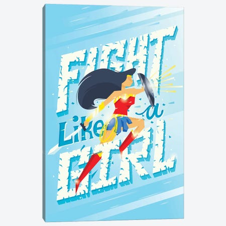 Fight Like A Girl Canvas Print #RRO10} by Risa Rodil Art Print