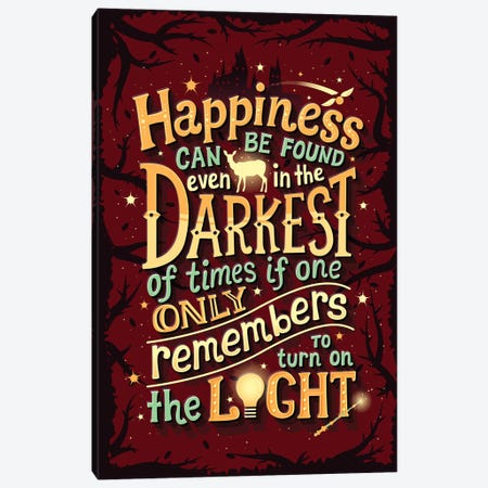 Harry Potter I Canvas Print #RRO29} by Risa Rodil Canvas Wall Art
