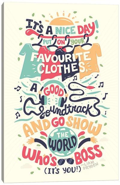 Liam Dryden Quote Canvas Art Print