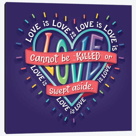 Lin-Manuel Love Is Love Canvas Print #RRO34} by Risa Rodil Canvas Wall Art