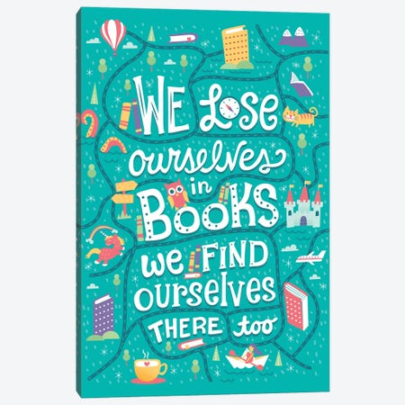 We Lose Ourselves Canvas Print #RRO36} by Risa Rodil Canvas Wall Art