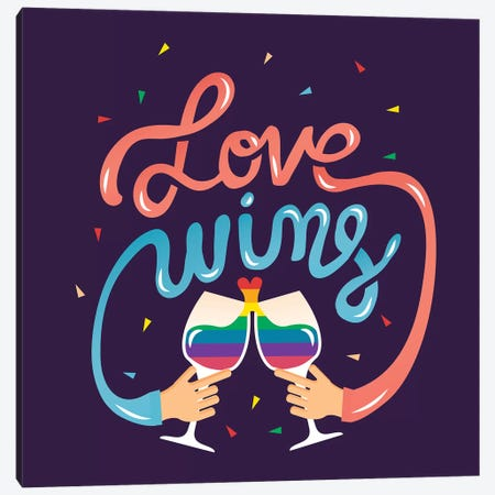 Love Wins  Canvas Print #RRO37} by Risa Rodil Canvas Art
