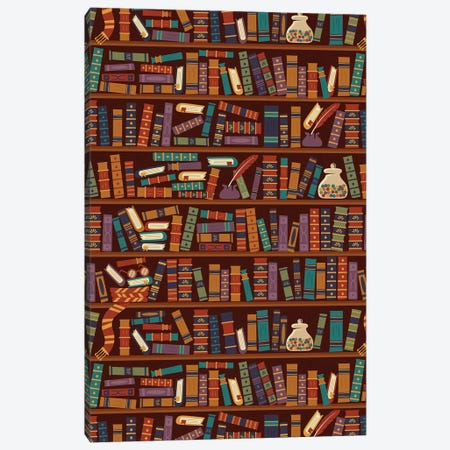 Bookshelf Canvas Print #RRO3} by Risa Rodil Canvas Wall Art