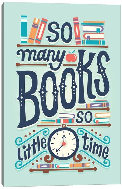 So Many Books Canvas Art Print