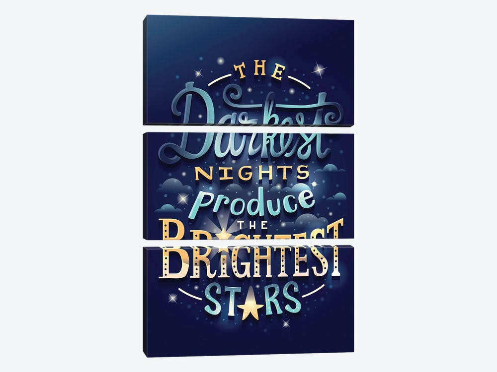 Brightest Stars by Risa Rodil 3-piece Canvas Art Print