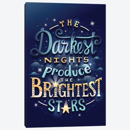 Brightest Stars Canvas Print #RRO44} by Risa Rodil Canvas Print