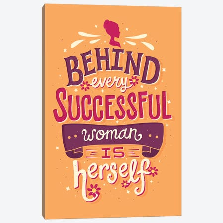 Successful Woman Canvas Print #RRO45} by Risa Rodil Canvas Art Print