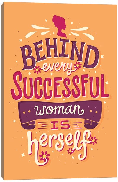 Successful Woman Canvas Art Print