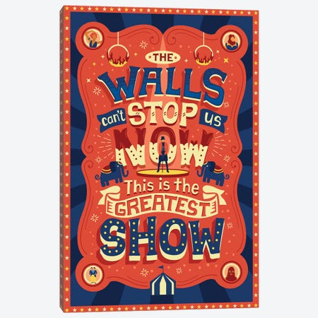 The Greatest Showman III Canvas Print #RRO48} by Risa Rodil Canvas Wall Art