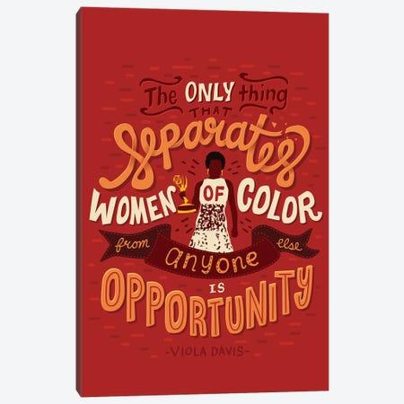 Viola Davis Quote 3-Piece Canvas #RRO53} by Risa Rodil Canvas Print