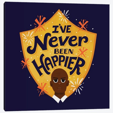 I've Never Been Happier Canvas Print #RRO55} by Risa Rodil Canvas Art