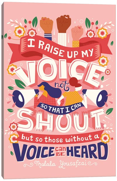 Raise Your Voice Canvas Art Print