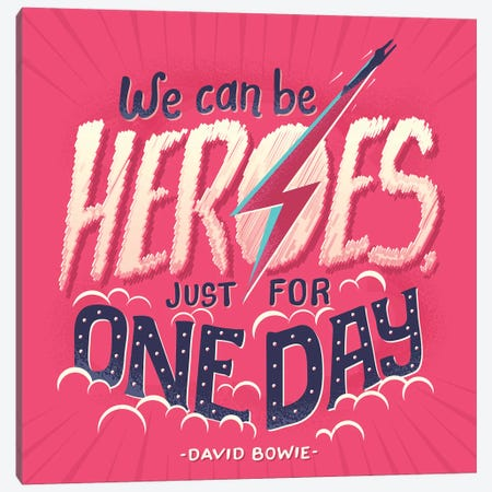 David Bowie Canvas Print #RRO6} by Risa Rodil Art Print