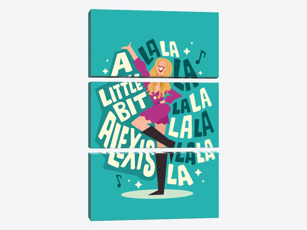 La La La by Risa Rodil 3-piece Art Print